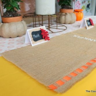 DIY Burlap Placemats for Thanksgiving
