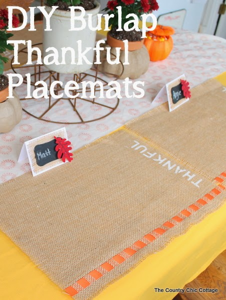 graphic for fall placemats