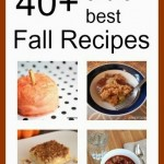 fall recipe collage