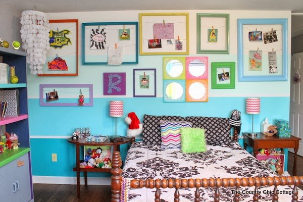 Teen room reveal come see my fun and colorful room on a budget the country chic cottage - Colorful teen bedroom designs ...