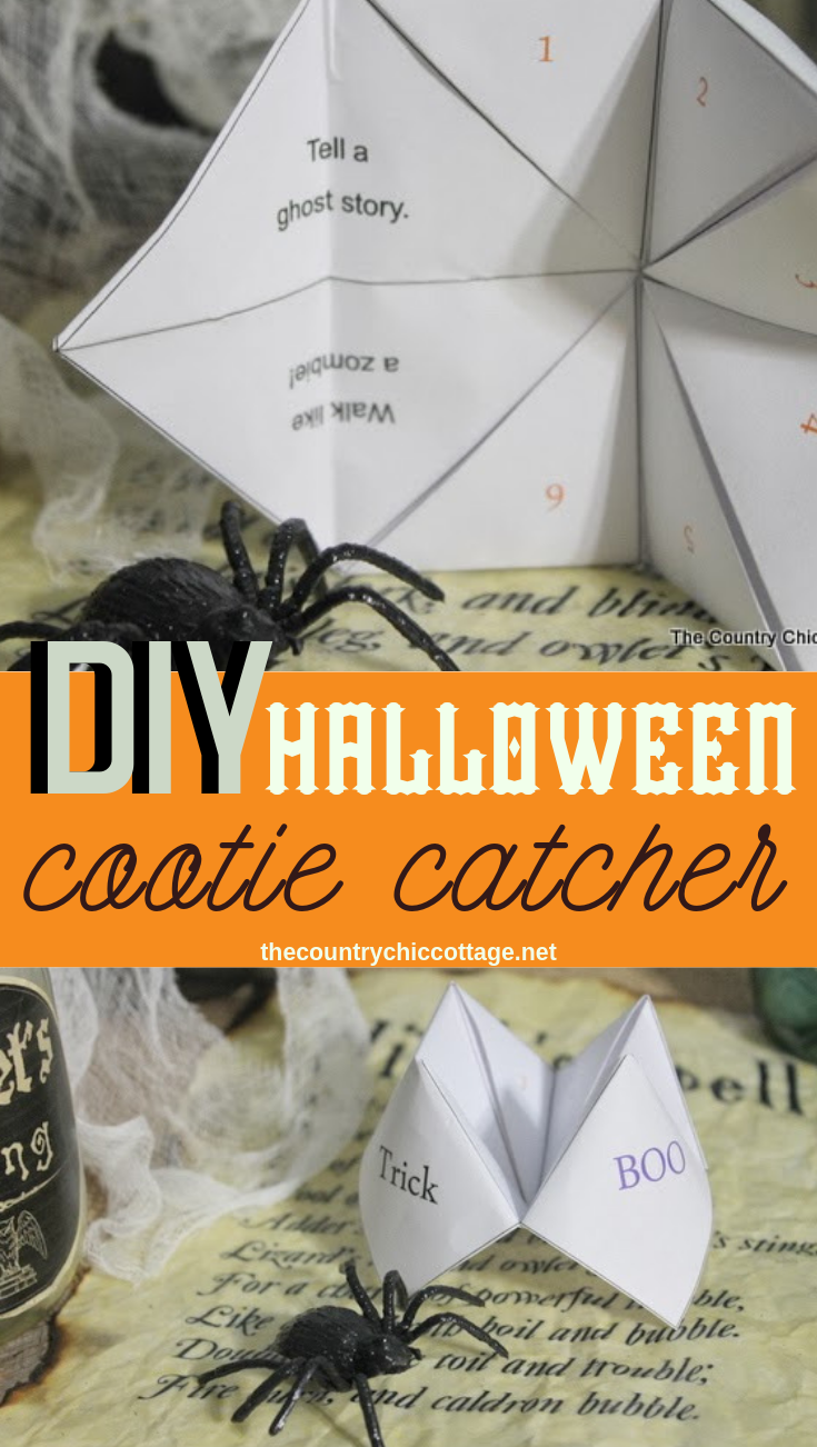 Make a DIY Halloween cootie catcher with this free printable! Print then fold to give the kids hours of fun playing with this classic fortune teller! #halloween #printable #freeprintable