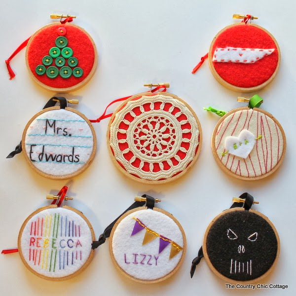 Holiday Decor Gift Ideas Pottery Barn Edition All My: Handmade Gift: 8 Hoop Ornament Ideas