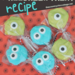 A Monsters Halloween treat that the entire family will love and they can be made in 5 minutes! If you love Monsters, Inc, you will adore this movie themed snack! #monsters #halloween #dessert #treat