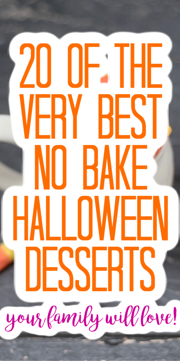 Make these no bake Halloween desserts for your family! They will love these easy treat ideas on a week night or a special family Halloween celebration! #halloween #dessert #treats