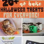 These no bake Halloween treats are the perfect way to celebrate the season! Halloween treats with no baking required are the only way to go! #halloween #recipe #treats #dessert