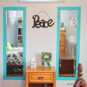 Paint Frames Around Mirrors plus tips on using painter's tape #ad