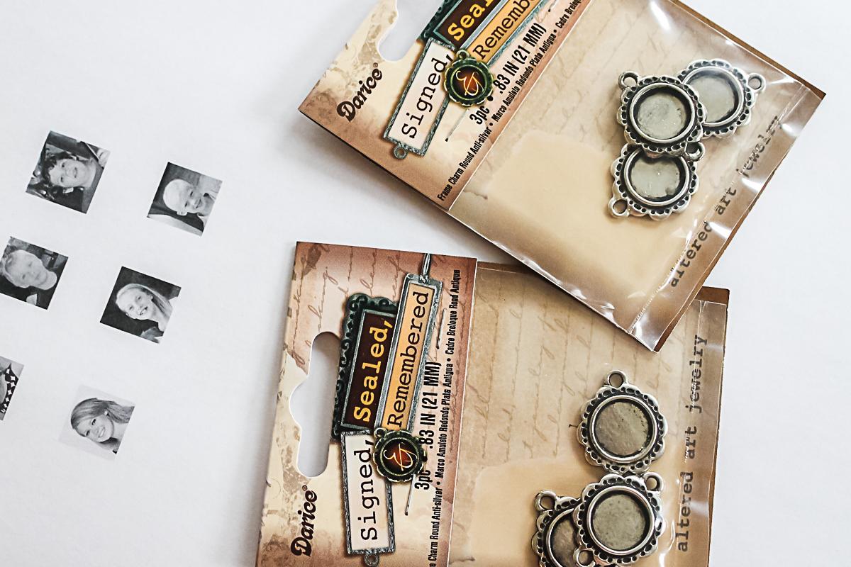 supplies to make a photo bracelet