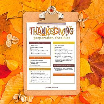 checklist for thanksgiving