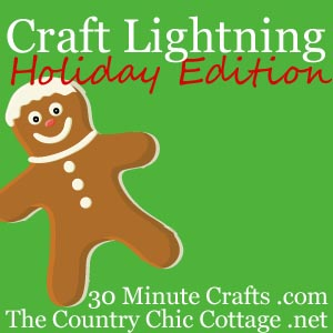 Craft Lightning Holiday Edition — link up your quick crafts!