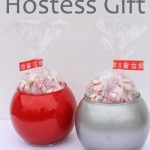 DIY glitter candy dish hostess gift