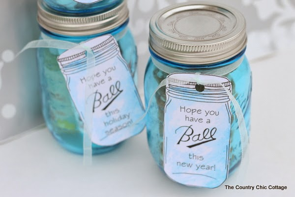 image about Printable Mason Jar Labels known as Ball Mason Jar Labels for Presents - The Nation Stylish Cottage