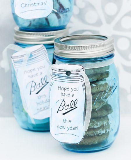 ball mason jar gift tags