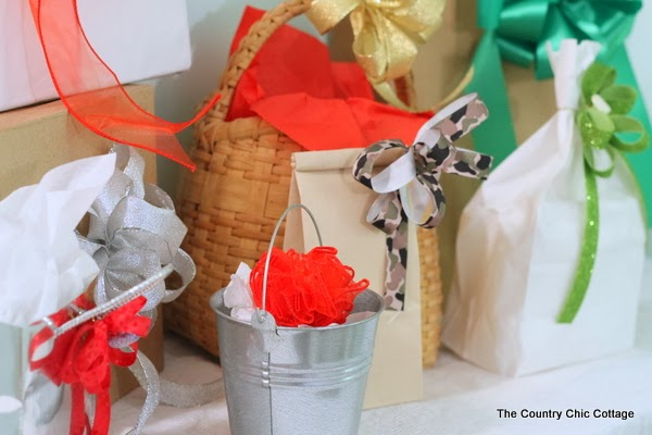 DIY Handmade Bows with the Bowdabra -- a quick and easy way to make bows for your holiday packages.