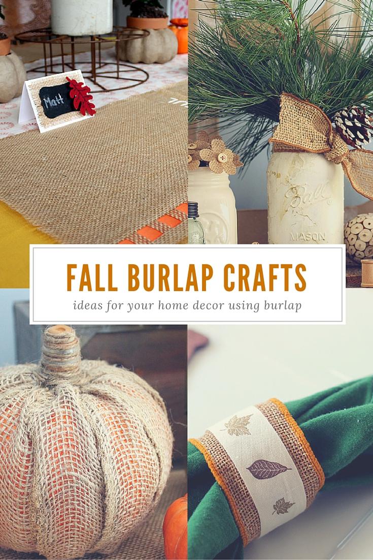 fall burlap crafts collage