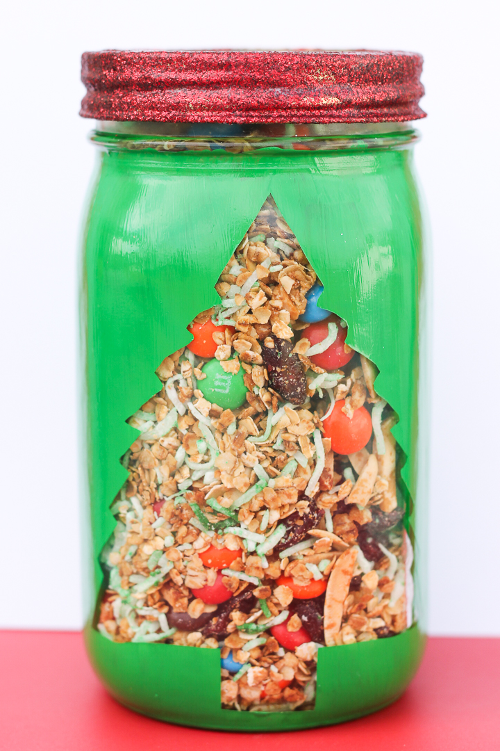 granola gift in a jar