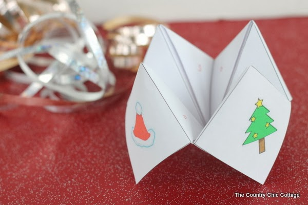 Christmas Cootie Catcher The Country Chic Cottage
