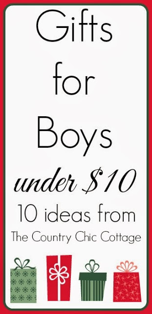 10 Gifts for Boys Under $10 -- get great stocking stuffer ideas here for little boys (who are the hardest to shop for!).