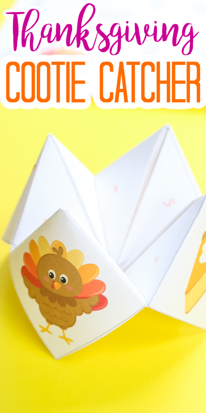 free printable thanksgiving cootie catcher