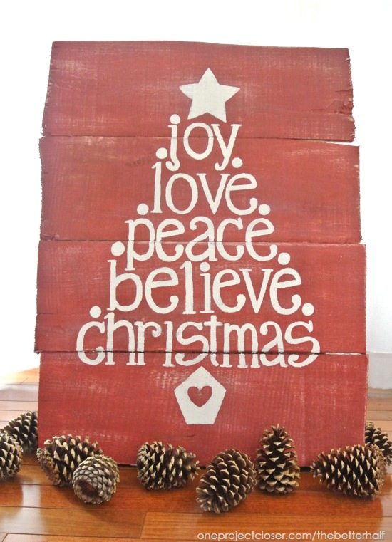 Win a free Christmas Pallet from One Project Closer plus tutorial!