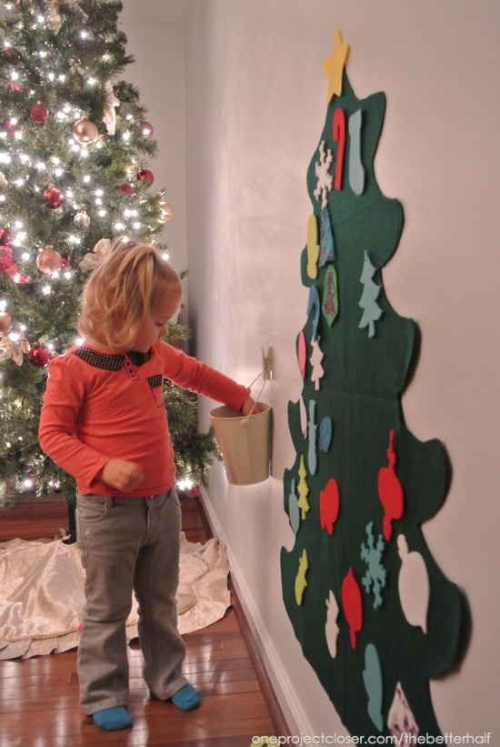 Felt Tree with Ornaments - One Project Closer