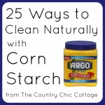 cleaning with corn starch