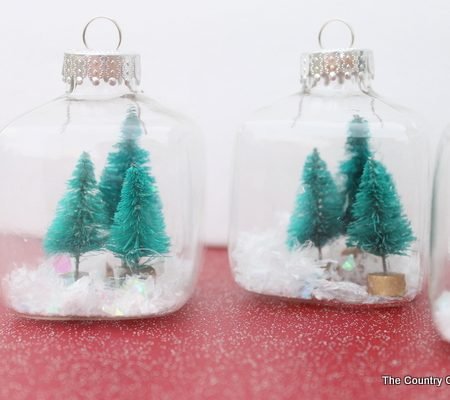 mini snow globe ornaments
