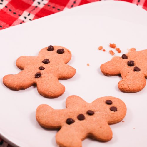peanut butter and chocolate gingerbread cookies