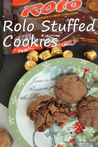 Rolo Stuffed Cookies -- a perfection combination of chocolate and caramel all in one delicious cookie!