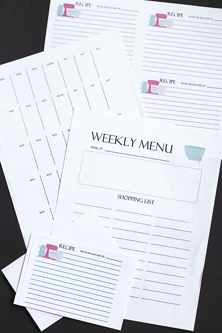 plan a week's worth of meals