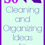 cleaning and organizing