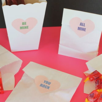Conversation Heart Printable Treat Labels