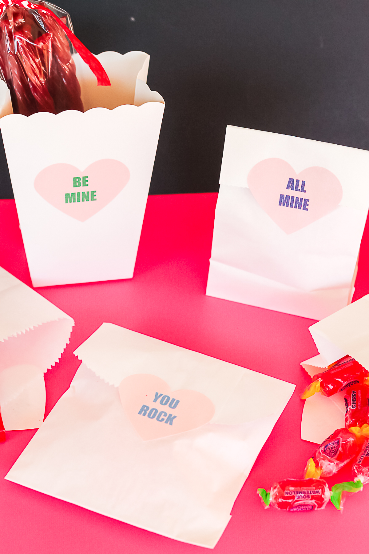 printable candy heart phrases on bags