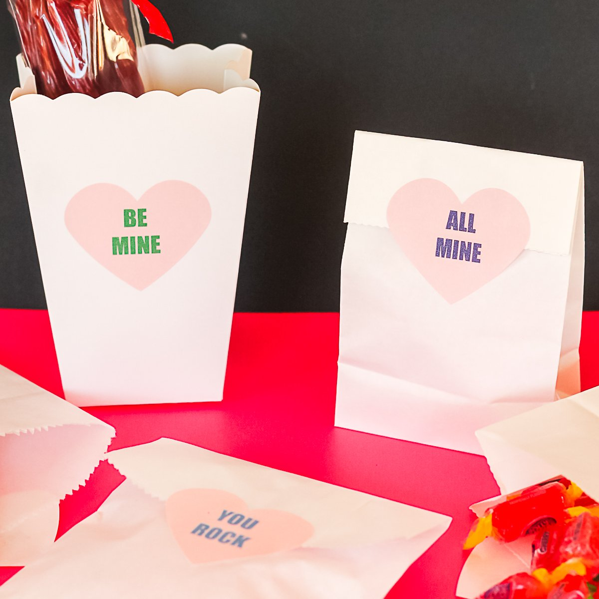 free printable heart shaped labels for treats