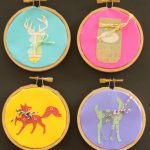 embroidery hoop art with paper-006