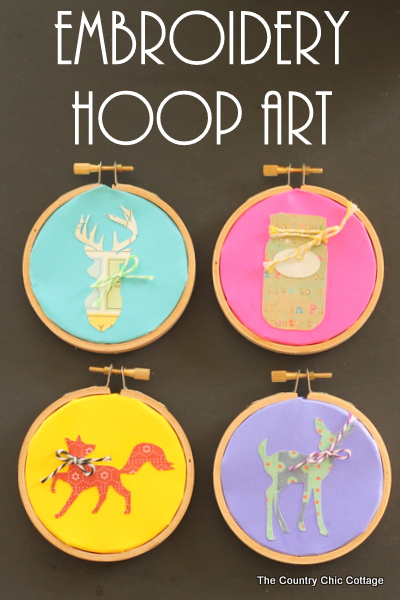 Embroidery Hoop Art -- use paper to create amazing embroidery hoop art with this easy to follow craft tutorial.