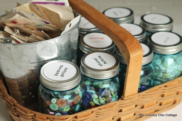 Organizing Buttons With Mason Jars The Country Chic Cottage
