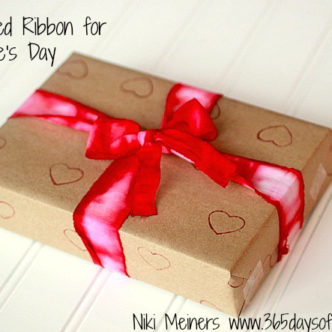 Dip Dyed Ribbon for Valentine's Day Gift Packaging