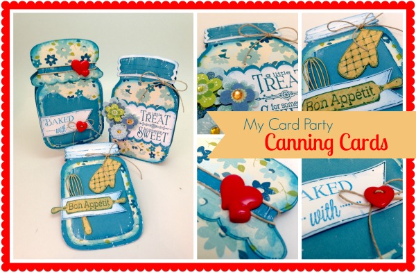 Canning jar cards -- adorable cards in the shape of a canning jar!