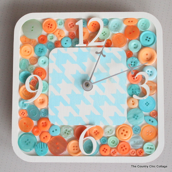 homemade craft ideas to sell diy button clock the country chic cottage 6735