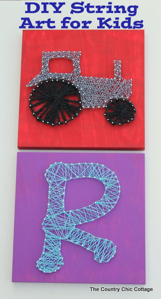 Kids Craft: DIY String Art for Kids -- let the kids loose on this fun craft project that can be done in an afternoon.