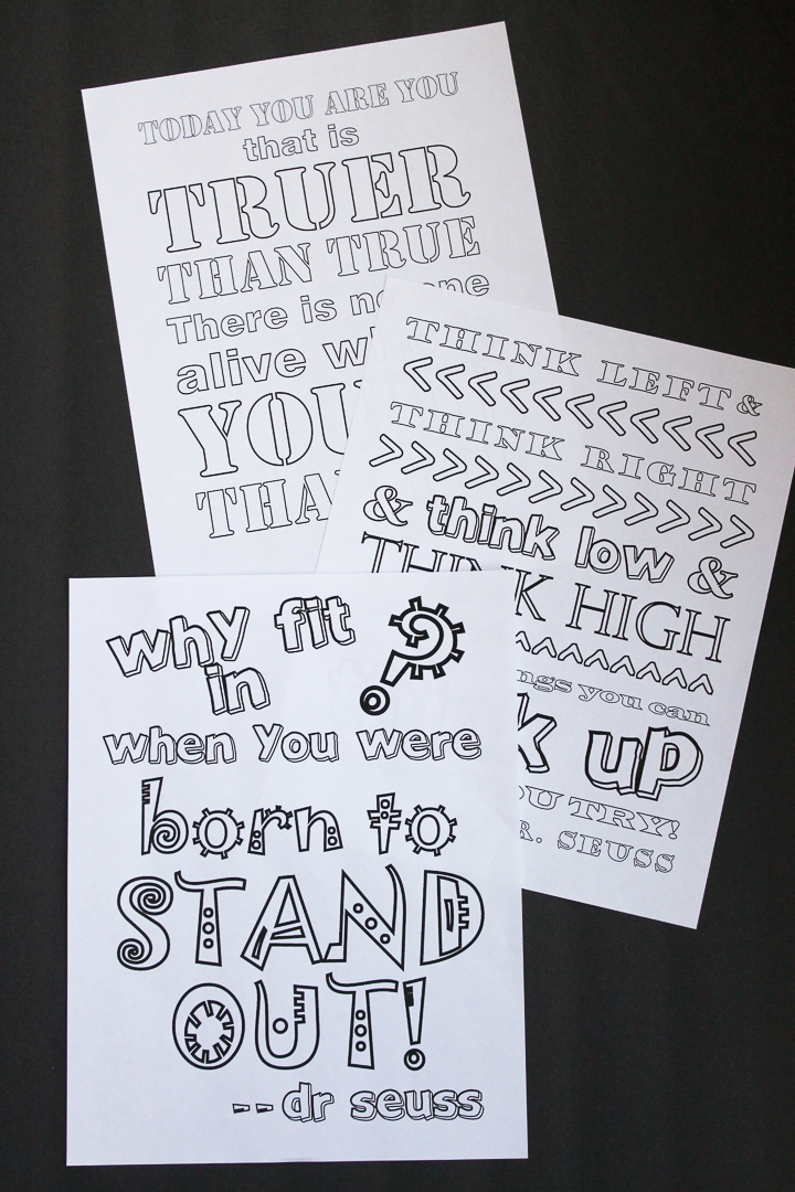 dr seuss free printable coloring pages for adults