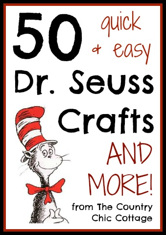 These Dr. Seuss crafts are easy and perfect for Read Across America Day!