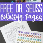 Grab these free printable Dr. Seuss color pages and celebrate Read Across America Day! Kids of all ages will love coloring these Dr. Seuss quotes! #drseuss #freeprintable #coloringpages #coloring #adultcoloring #kids #kidscoloringpages #adultcoloring pages #seuss #printables #freeprintables #kidsprintables #quotes #seussquotes