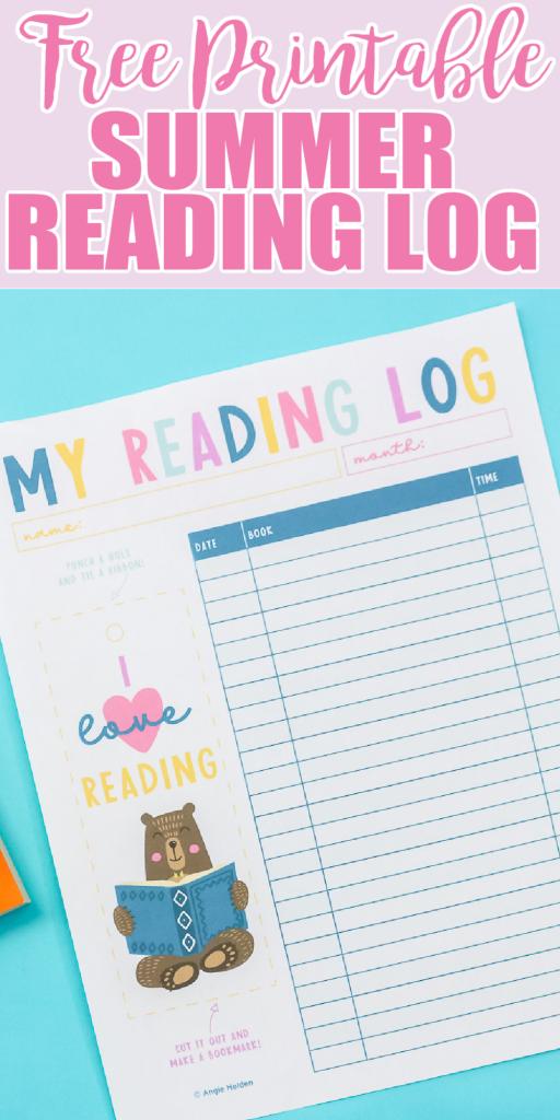 free printable summer reading log