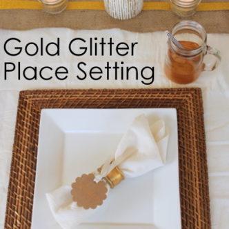 Gold Glitter Place Setting