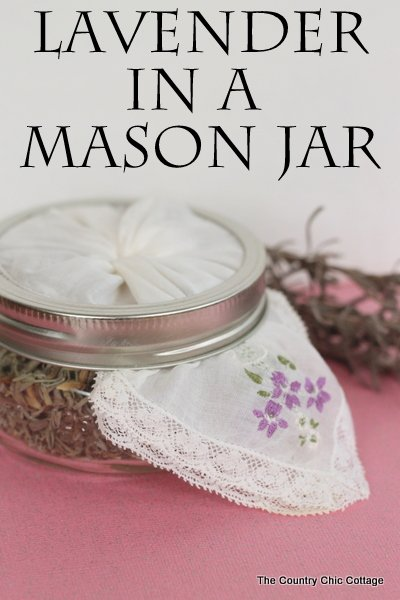 Lavender in a Mason Jar -- add lavender to a squat mason jar for a gorgeous and frangrant addition to any room.