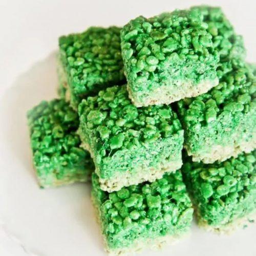 ombre rice krispie treats