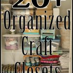 organized craft closets