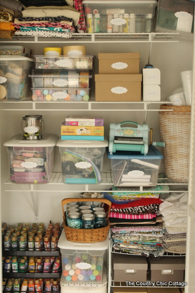 organized office closet. Delighful Closet Organized Craft Closet  Turn Any Under Utilized Closet In Your Home Into  A Fabulous And Office