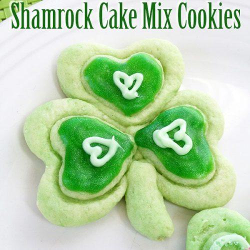 Shamrock cake mix cookies